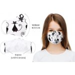 Bellatex rúško dvojvrstvové dievčenské s vreckom pre Nano filter 1234/191 kočičky S/13 bavlněná návod a manuál