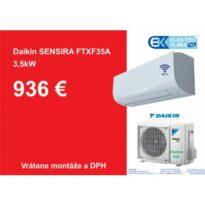 Daikin Sensira FTXF35C + RXF35C návod a manuál
